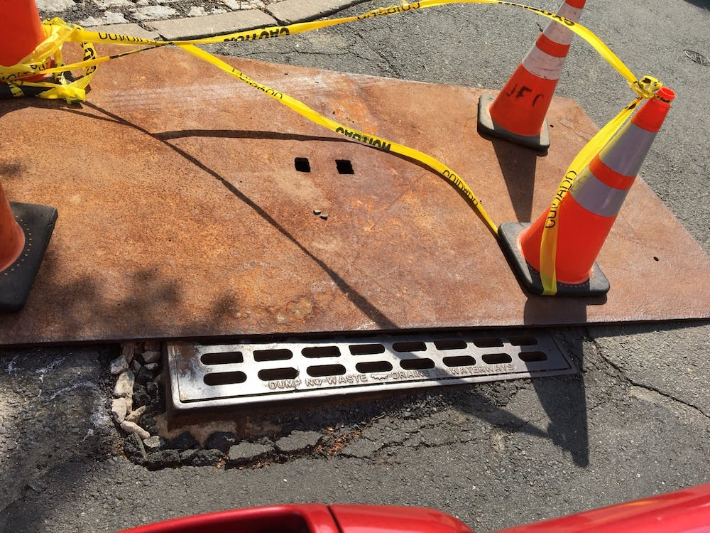 <p>The sewer grate prior to repair.</p> <h6>Photo courtesy of the Plaintiffs&nbsp;</h6>