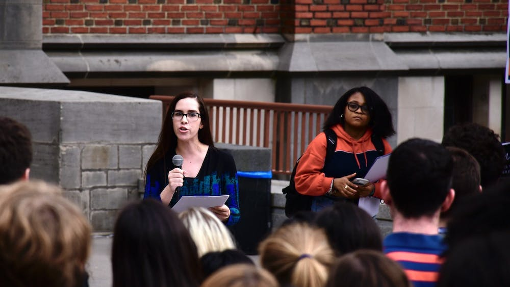 In May 2019, SPEAR led a walk-out protest. Jon Ort / The Daily Princetonian