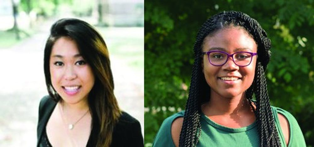 <p>USG Presidential Candidates Rachel Yee and Myesha Jemison</p>