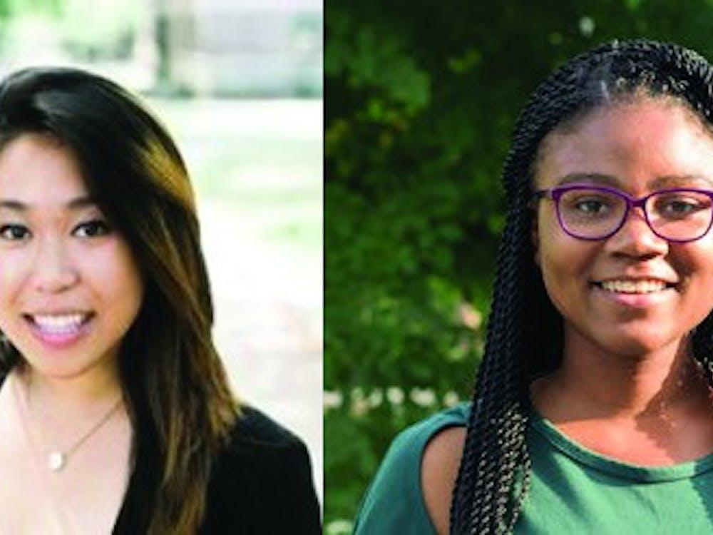 USG Presidential Candidates Rachel Yee and Myesha Jemison