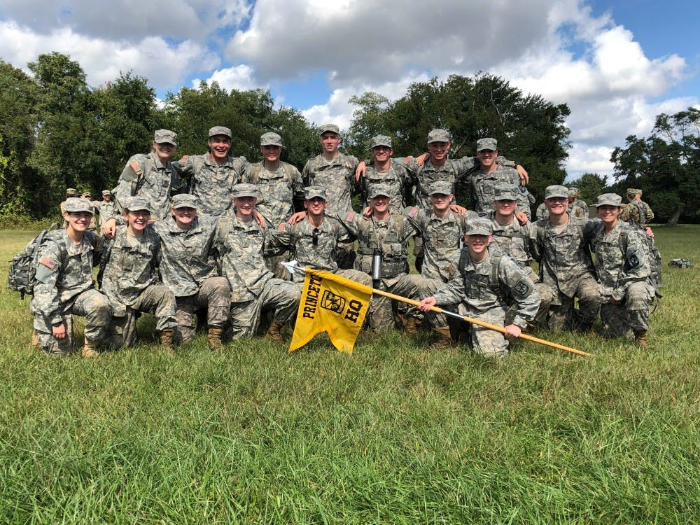 ROTC's 18 first-year cadets at their training exercise at Fort Dix on September 30, 2018.  Taken by CDT Leo Li, courtesy of Cadet Private Robert Doar '22