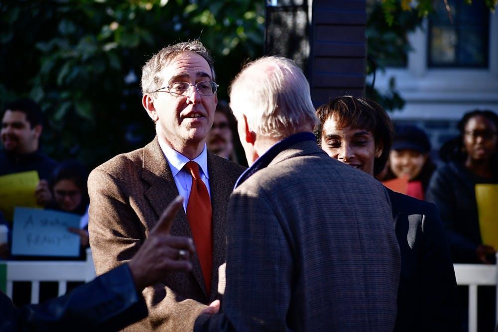 <h5>University President Christopher Eisgruber '83.</h5> <h6>Jon Ort / The Daily Princetonian</h6>