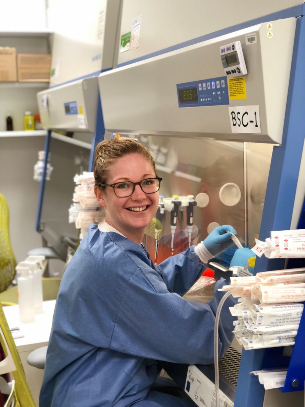 <h6>Brittany Adamson, Assistant Professor in the Department of Molecular Biology and the Lewis-Sigler Institute for Integrative Genomics.</h6> <h6>Photo Credit: Britt Adamson</h6>
