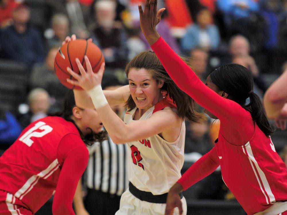 Maggie Connolly drives to the basket in Princeton's win over Cornell