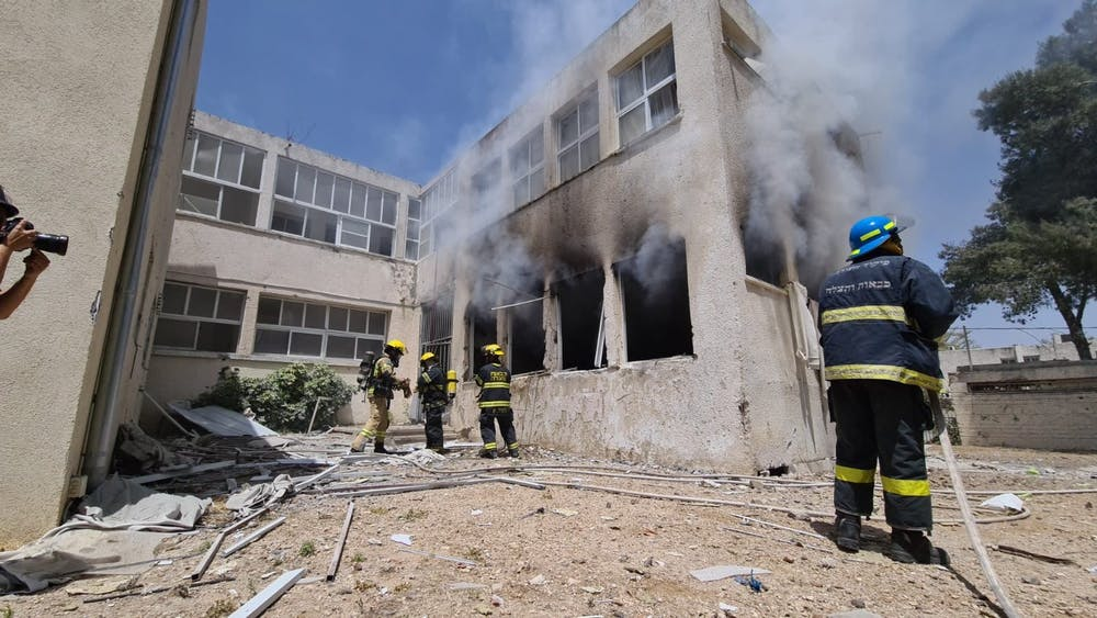 """<h6>""""School Damaged by Hamas Rocket Fire in Ashkelon"""" by Israel Ministry of Foreign Affairs / <a href=""""https://www.flickr.com/photos/israel-mfa/51188150350/"""" target=""""_self"""">CC BY-NC 2.0</a></h6>"""