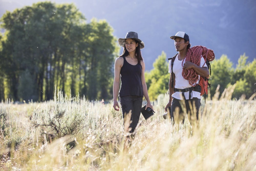 """<p>Jimmy Chin and Chai Vasarhelyi on location during the filming of Free Solo. Source: Chris <a href=""""https://www.natgeotvpressroom.com/titles/show/5b6b4aa319480dd82da71521?tab=57756f1bd8a23aa650b90479"""" target=""""_self"""">Figenshau</a> / National Geographic.</p>"""