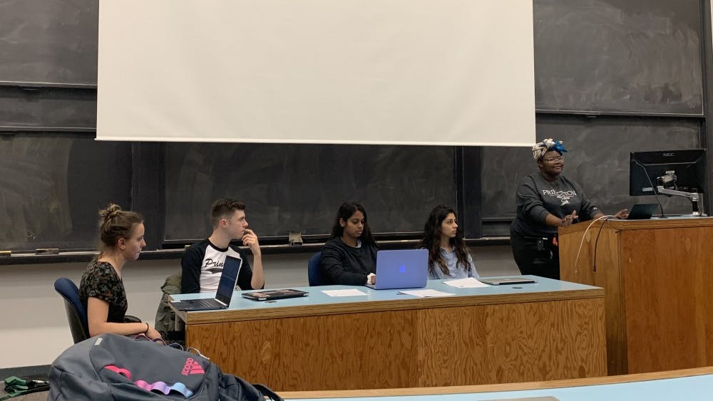 The Undergraduate Student Government (USG) held its weekly meeting in Lewis Library Room 138. Photo Credit: Bharvi Chavre / The Daily Princetonian
