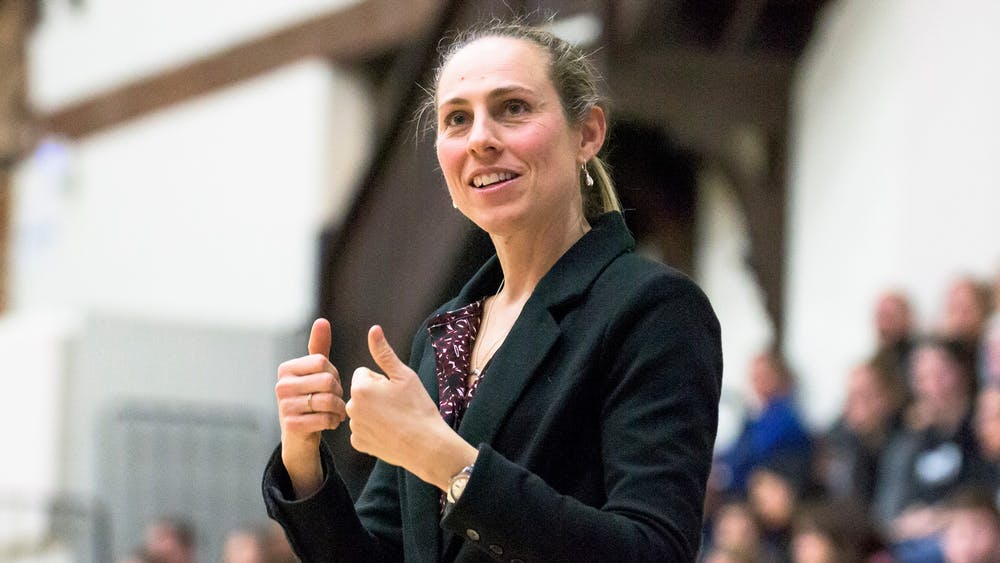 Head women's basketball coach Carla Berube. Photo courtesy of Tufts University.