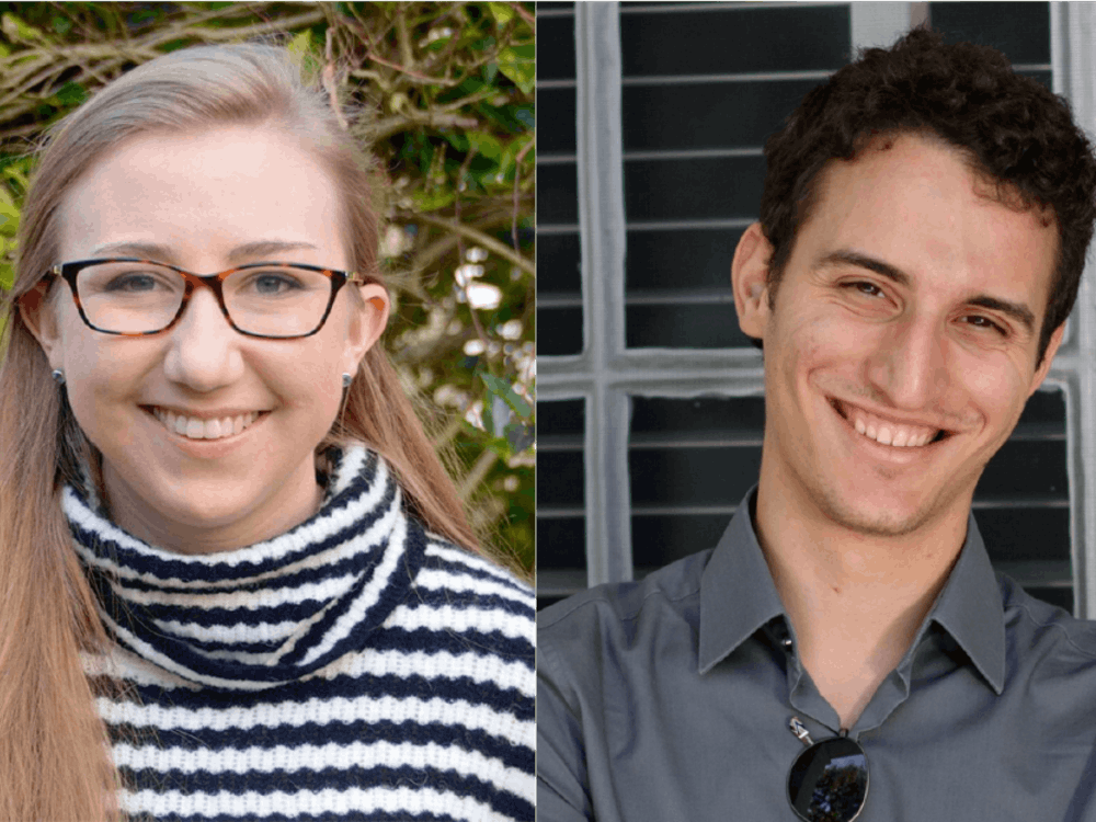Kate Reed '19 and Rafail Zoulis '19 have been selected as this year's valedictorian and salutatorian. Photos courtesy of the Office of Communications.