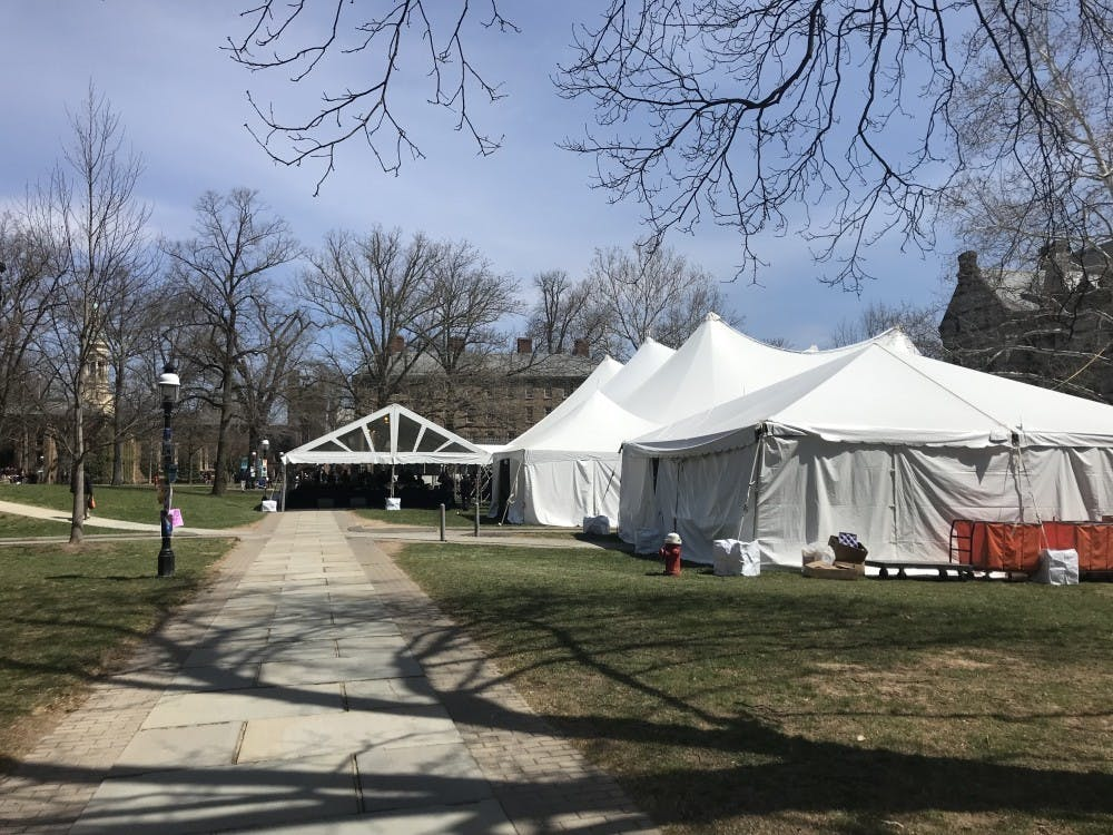 <h5>Princeton Preview tents from 2018.</h5> <h6>Risa Gelles-Watnick / The Daily Princetonian</h6>