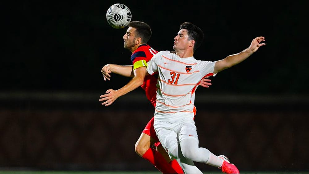 """<p>Greg Carroccio for <a href=""""https://goprincetontigers.com/news/2021/9/28/mens-soccer-stunned-by-st-johns-1-0.aspx"""" target=""""_self"""">GoPrincetonTigers</a></p>"""