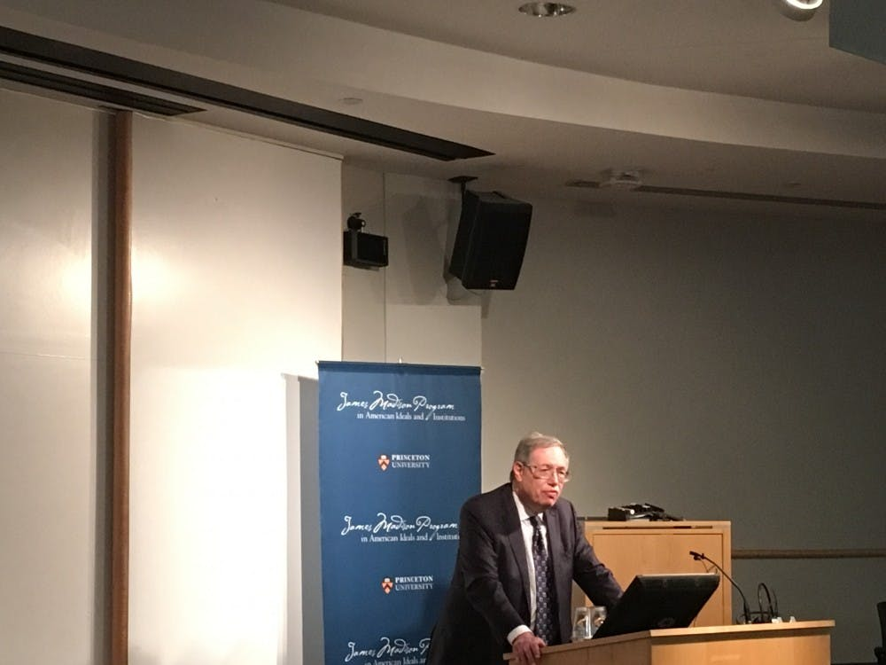 Richard A. Epstein, the Laurence A. Tisch Professor of Law at New York University School of Law, speaks on the impacts of anti-discrimination laws in the Annual Walter F. Murphy Lecture in American Constitutionalism. Courtesy of the author.