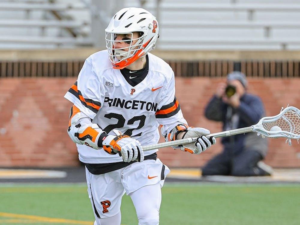 The University's announcement affects the Princeton eligibility of seniors such as men's lacrosse captain Michael Sowers. Shelley M. Swazst / goprincetontigers.com