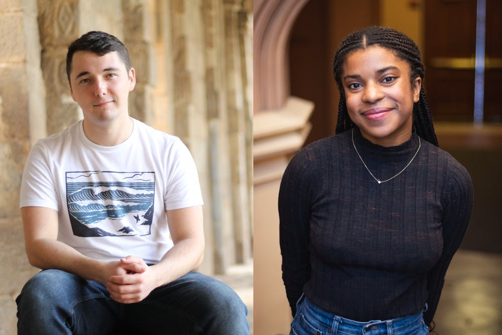 "<p>Riley Wagner (left) and Danielle Stephenson (right)</p> <h6>Photo Credit: Brad Spicher '20 and Malika Oak '20 / <a href=""https://www.princeton.edu/news/2020/02/28/princeton-seniors-stephenson-wagner-awarded-reachout-fellowships-public-service"" target=""_self"">Office of Communication</a></h6>"