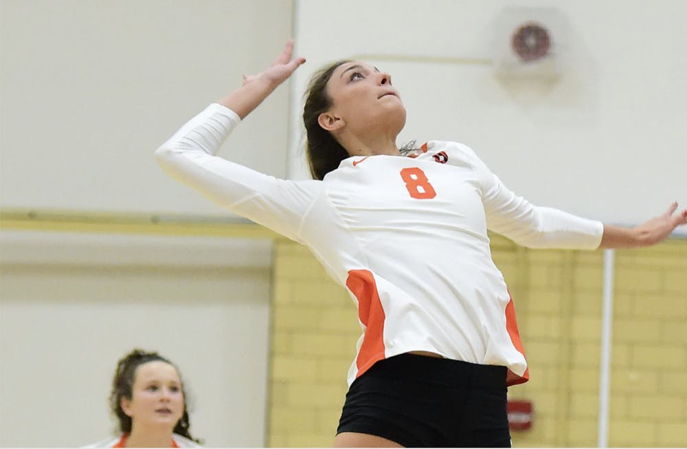 <h5>After helping the Princeton University women's volleyball team earn a pair of wins over the weekend, senior middle blocker Julia Schner was honored as the Ivy League Player of the Week.&nbsp;</h5> <h6>Courtesy of GoPrincetonTigers.com</h6>