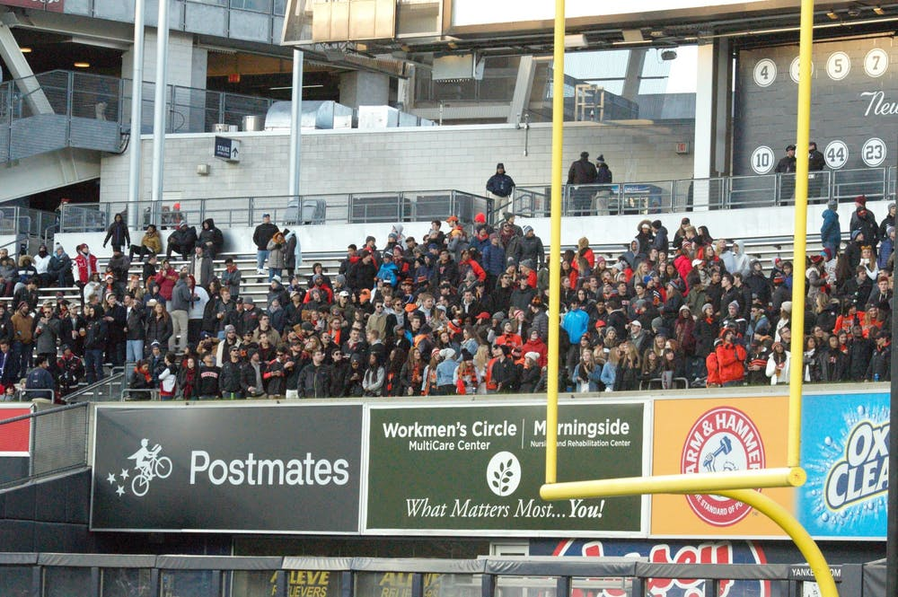 <p>Princeton faithful in the stands at Yankee Stadium.</p> <h6>Photo Credit: Jack Graham / The Daily Princetonian</h6>