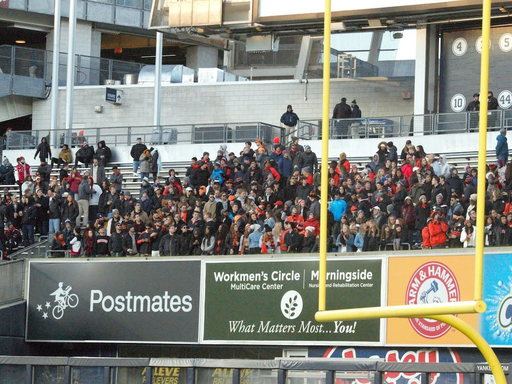 Princeton faithful in the stands at Yankee Stadium. Photo Credit: Jack Graham / The Daily Princetonian