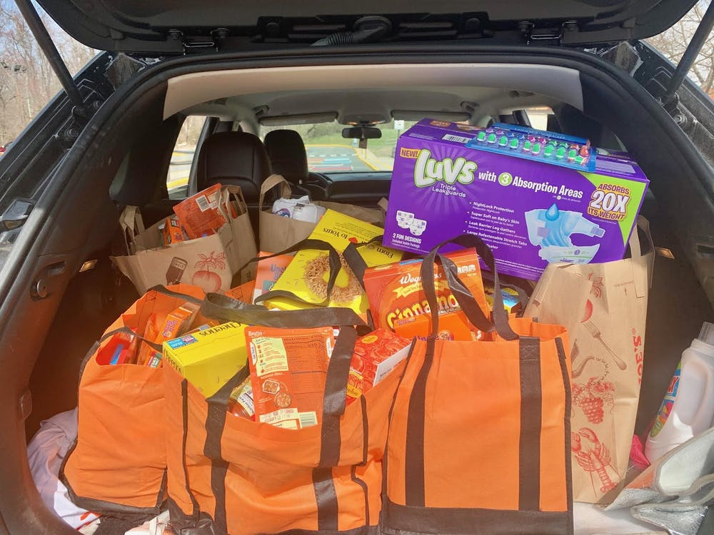 <p>Food delivered to Princeton residents.&nbsp;</p> <h6>Courtesy of Veronica Olivares-Weber</h6>