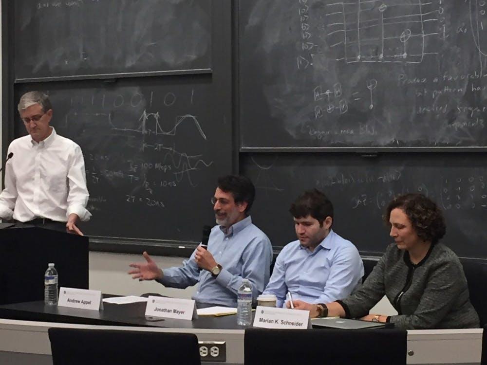 Ed Felten, Andrew Appel, Jonathan Mayer, and Marian K. Schneider.