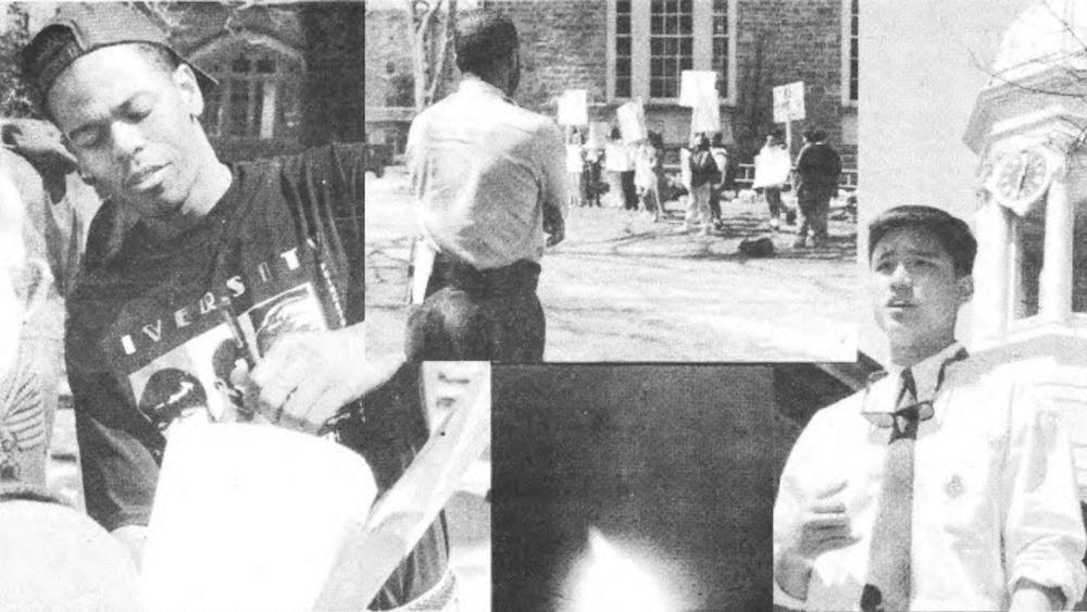 Photos from the April 1995 protests to establish Asian American Studies and Latino Studies programs Poaning Wu / The Daily Princetonian