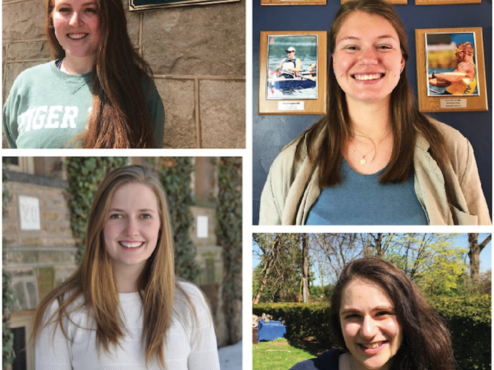 Clockwise from top left: Maggie McCallister '19, Hannah Paynter '19, Sarah Spergel '19, Rachel Macaulay '19.