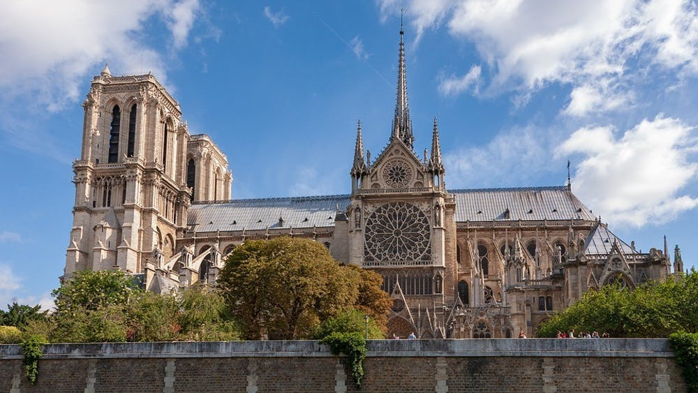 Ian Kelsall for Pixabay https://pixabay.com/photos/notre-dame-paris-architecture-4132071/