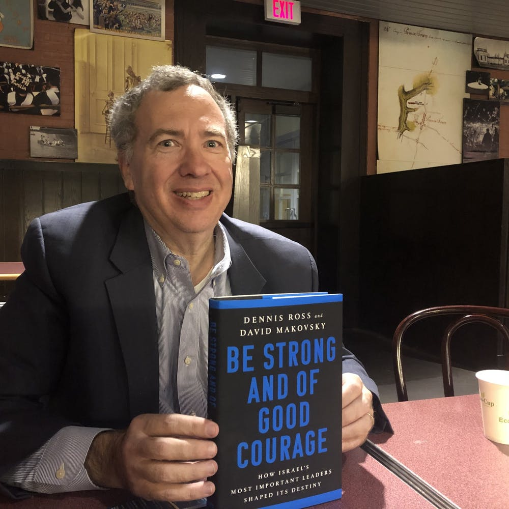 David Makovsky with His New Book  Sruti Chitluri / The Daily Princetonian