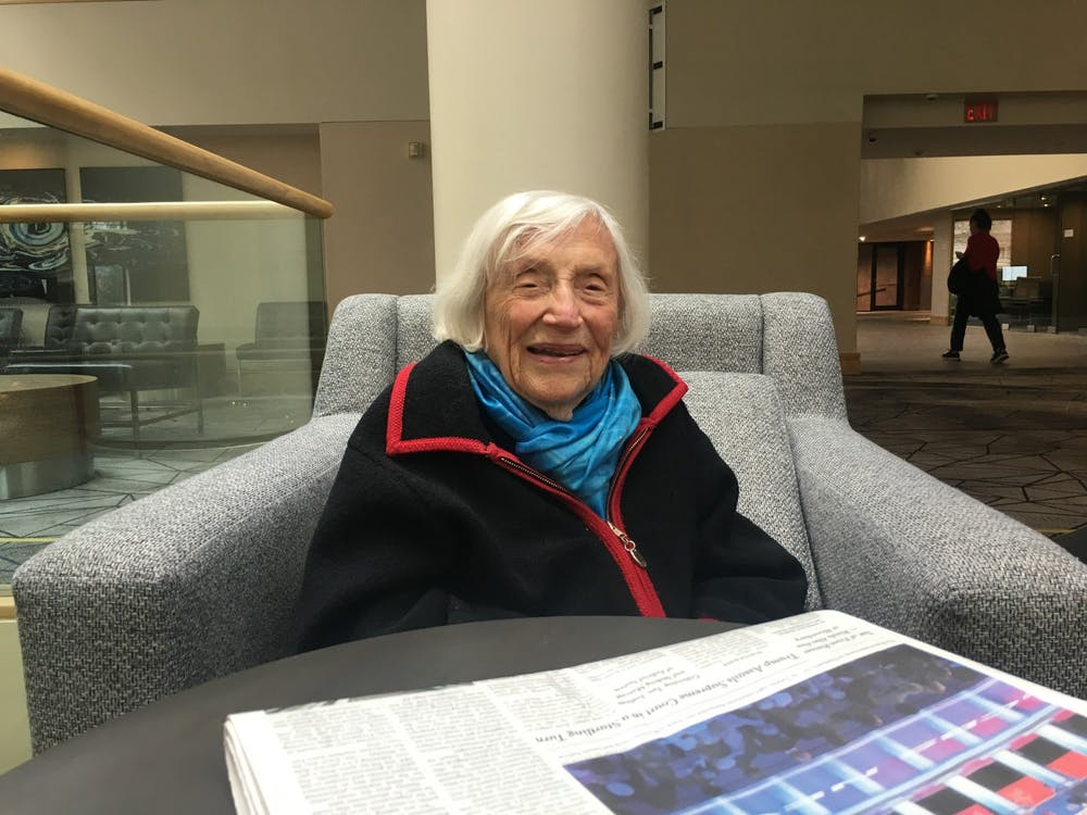 Marthe Cohn sat down with The Daily Princetonian to discuss her life story and how it impacts her political views today. Photo Credit: Marie-Rose Sheinerman / The Daily Princetonian