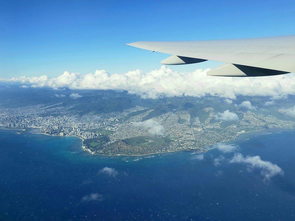 <p>An aerial view of the Hawaiian island of Oahu, including the Waikīkī skyline.</p> <h6>Albert Jiang / The Daily Princetonian</h6>