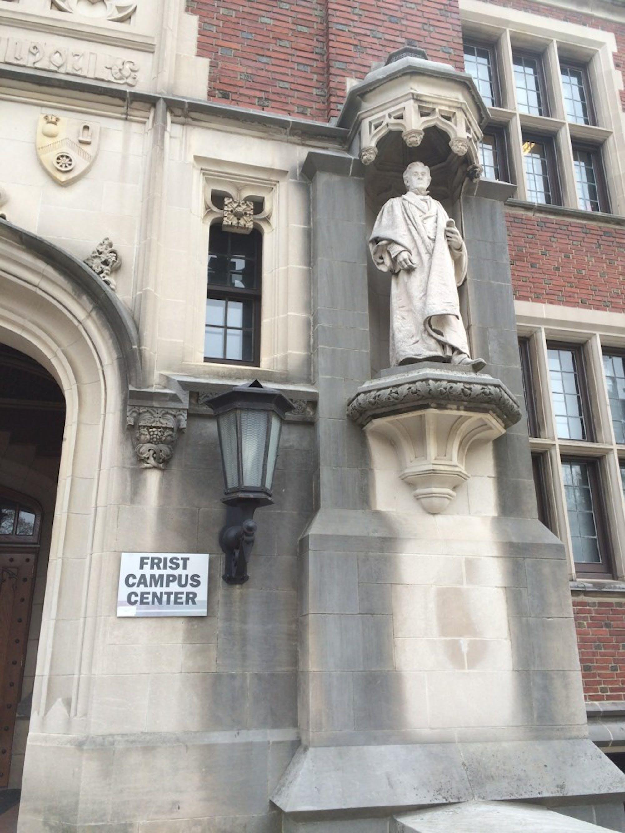 joesph-henry-statue-outside-of-frist-campus-center-princeton-university