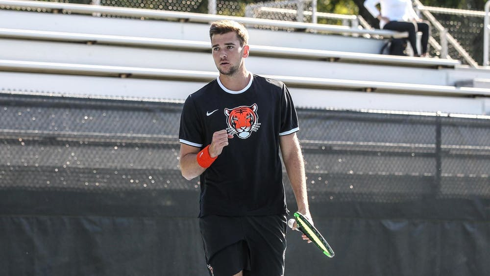 Senior Davey Roberts won a critical match against Penn, sending the Tigers to the semifinals against Harvard. Photo courtesy of Princeton Athletics
