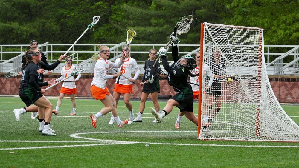 Women's lacrosse against Loyola Maryland in the NCAA tournament.  Photo Credit: Shelley M. Szwast