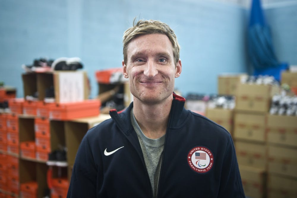 Brad Snyder before the 2012 Paralympic Games in London.  Courtesy of Wikimedia Commons.