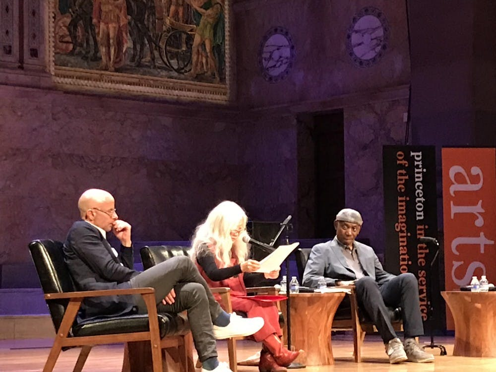 From left to right, David Treuer '92, Maxine Hong Kingston, and Yusef Komunyakaa. Photo Credit: Yael Marans / The Daily Princetonian