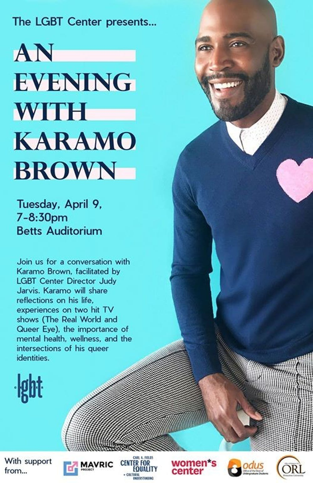Brown delivered a talk to a full house, and additional audience members listened from outside the open windows. Courtesy of the LGBT Center.