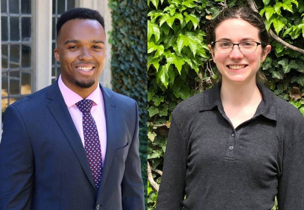 "<h6>Nicholas Johnson (left) and Grace Sommers (right)</h6> <h6>Photo Credits: Lisa Festa, Center for Career Development via the <a href=""https://www.princeton.edu/news/2020/04/27/nicholas-johnson-named-valedictorian-grace-sommers-selected-salutatorian"" target=""_self"">Office of Communications</a>; Grace Sommers via the <a href=""https://www.princeton.edu/news/2020/04/27/nicholas-johnson-named-valedictorian-grace-sommers-selected-salutatorian"" target=""_self"">Office of Communications</a></h6>"