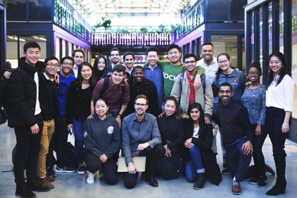 <p>The New York Tiger Trek participants met with 26 professionals in New York City's tech and startup scene over spring break.</p> <p>Courtesy of Olivia Zhang '20</p>