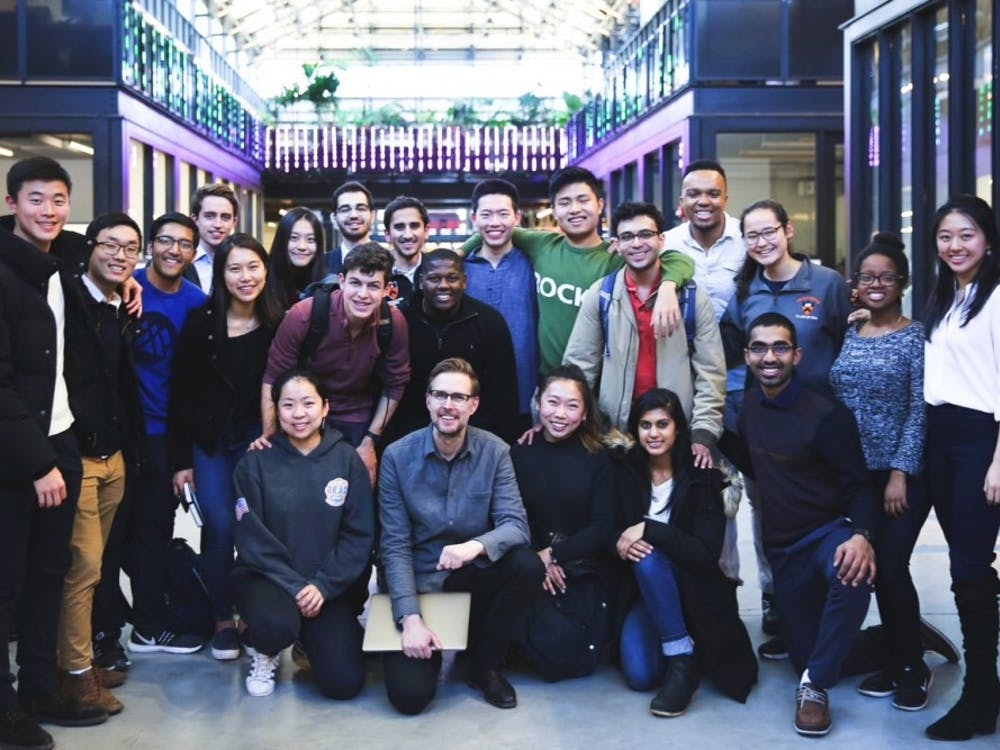 The New York Tiger Trek participants met with 26 professionals in New York City's tech and startup scene over spring break. Courtesy of Olivia Zhang '20