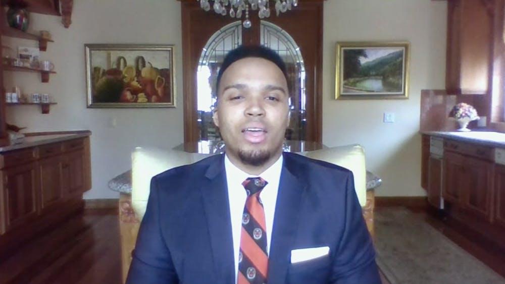 Valedictorian Nicholas Johnson '20.