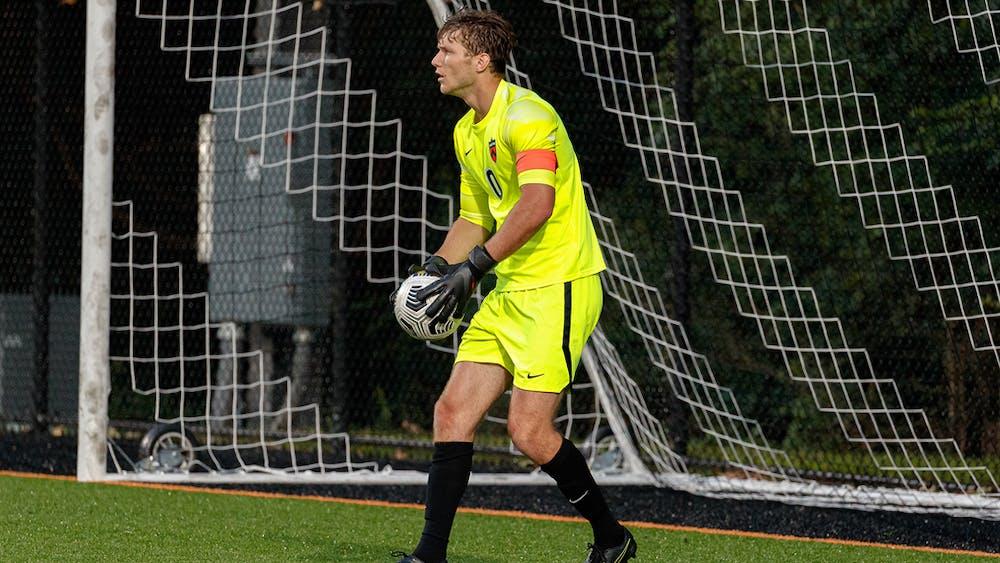 <p>Jack Roberts '22, one of Princeton's goalies. Photo by Shelley M. Szwast / GoPrincetonTigers</p>