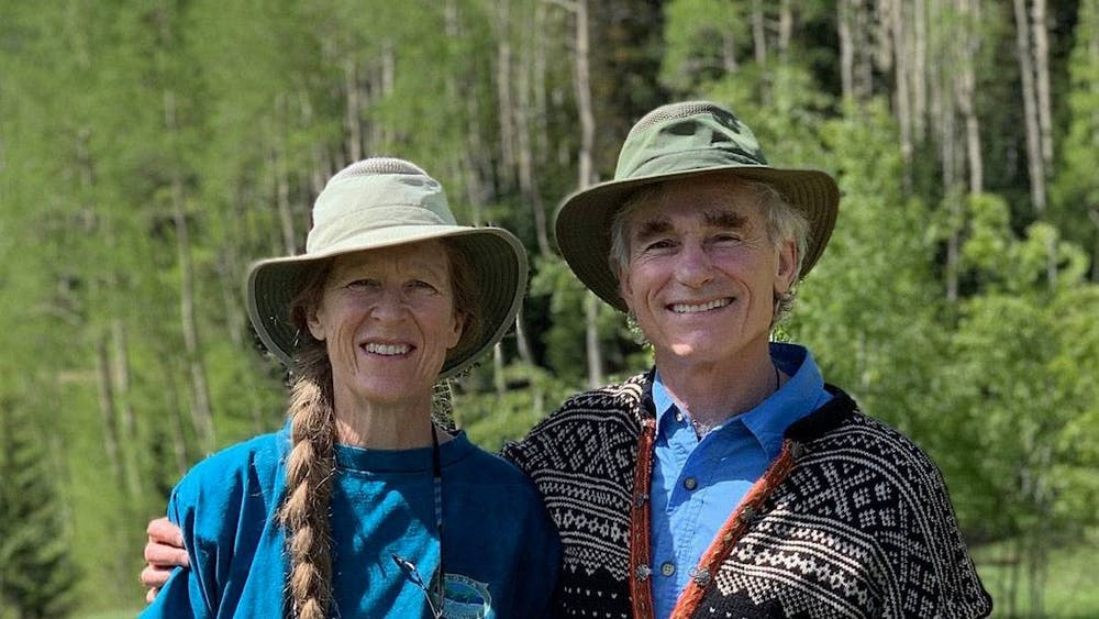 Currie and Tom Barron '74, pictured at their home in Colorado. Photo courtesy of Currie and Tom Barron via the Office of Communications