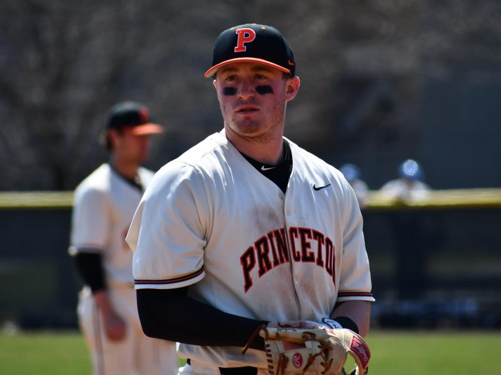 Sophomore third-baseman Taylor Beckett had six hits and three RBIs as Princeton split a doubleheader with Cornell on Saturday. Photo credit: Mark Dodici / The Daily Princetonian