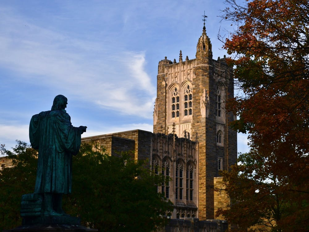 <h5>Firestone Library</h5> <h6>Jon Ort / The Daily Princetonian</h6>