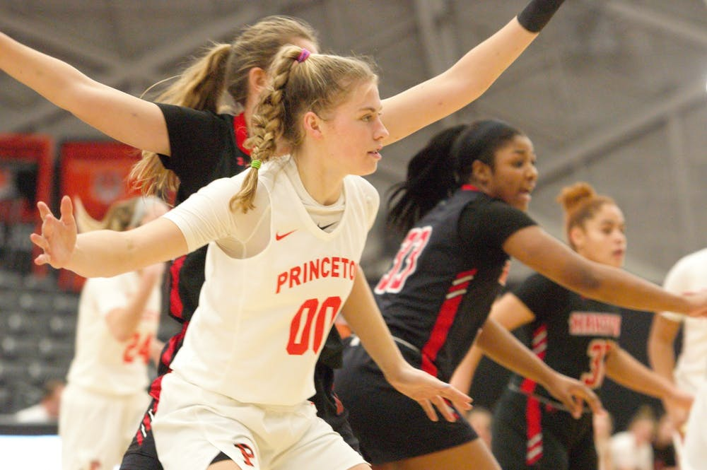 First-year forward Ellie Mitchell filled the stat sheet against Hartford. Photo Credit: Jack Graham / The Daily Princetonian
