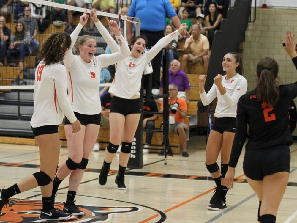 Princeton women's volleyball beat Dartmouth and Harvard this weekend. Photo Credit: Beverly Schaefer / goprincetontigers.com
