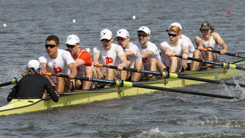 Top-ranked men's lightweight crew will take on three opponents this weekend. Photo credit: GoPrincetonTigers