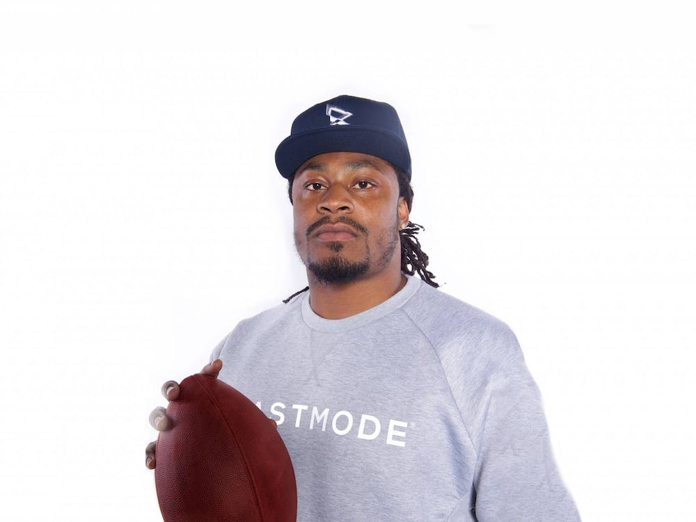 Marshawn Lynch, who will speak at Class Day this year Photo Credit: Naim Hasan / Courtesy of the Office of Communications