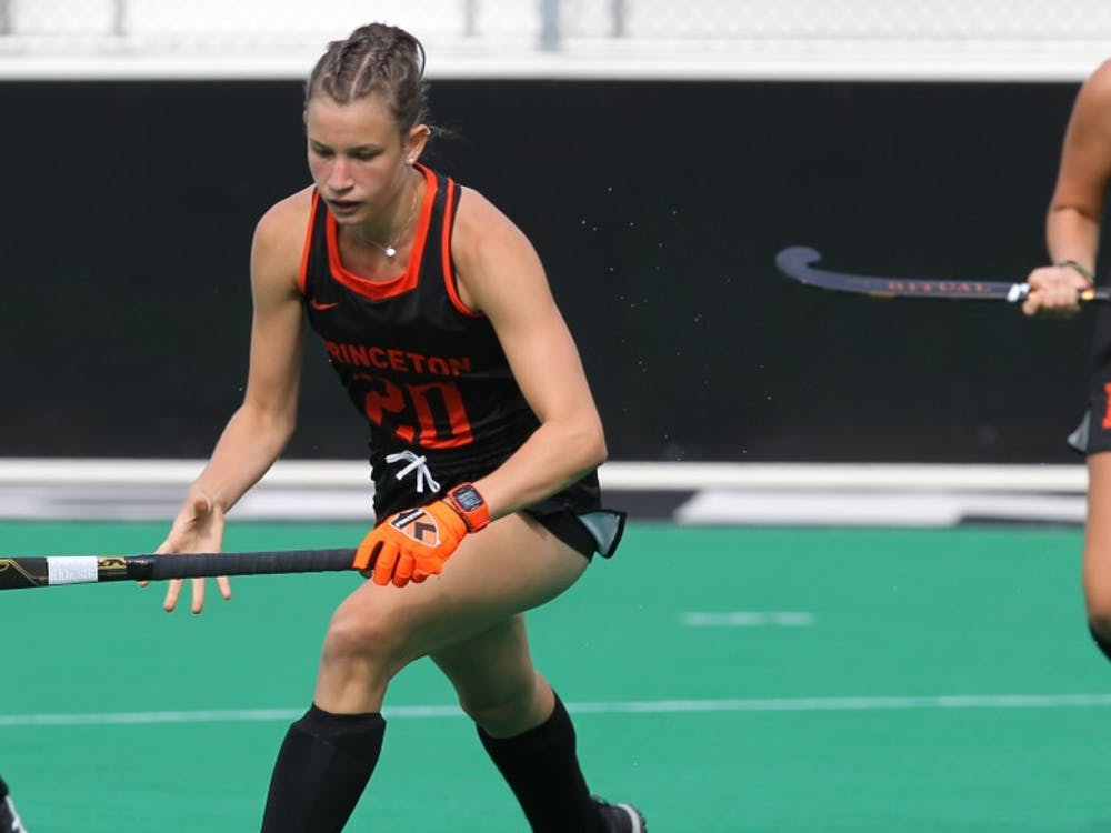 Clara Roth won her second Ivy League Offensive Player of the Week award after notching a goal and two assists against Dartmouth. Photo Courtesy of Beverly Schaefer / goprincetontigers.com