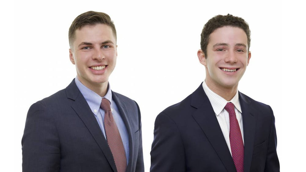 <p>Caleb Visser and Nathan Levit</p> <h6>Photo courtesy of the Schwarzman Scholars Program</h6>