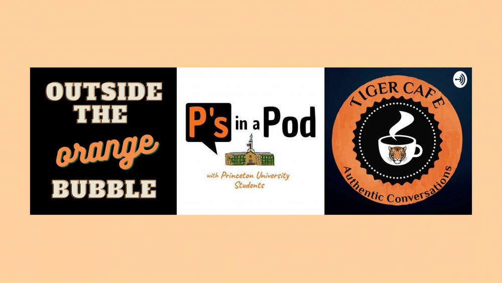 <h4>The logos of three student podcasts: Outside the Orange Bubble, P's in a Pod, and Tiger Cafe.</h4> <h5>Courtesy of Outside the Orange Bubble, P's in a Pod, and Tiger Cafe.</h5>
